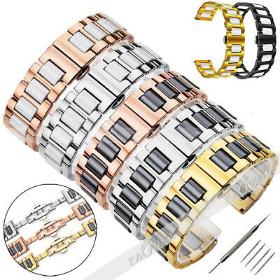 20MM / 22MM Ceramics Stainless Steel Bracelet Replacement Wristwatch Band Strap