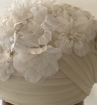 Hat Vintage 1950's Flower Cage Winter White Simply Fabulous!
