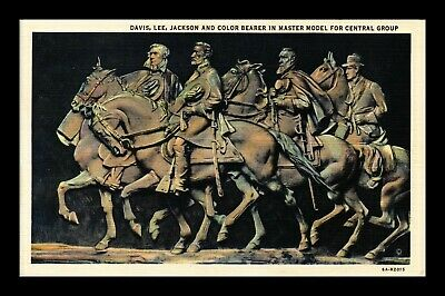 Dr Jim Stamps Us Master Model Stone Mountain Memorial Georgia Linen Postcard