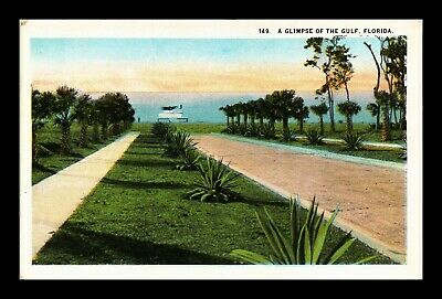Dr Jim Stamps Us Gulf Of Mexico View Florida Ct American Postcard