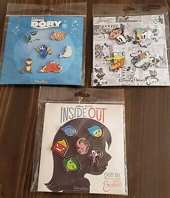 Disney Pins Booster Sets (3) Inside Out ~ Fab 4 ~ Dory  New Authentic Free Ship