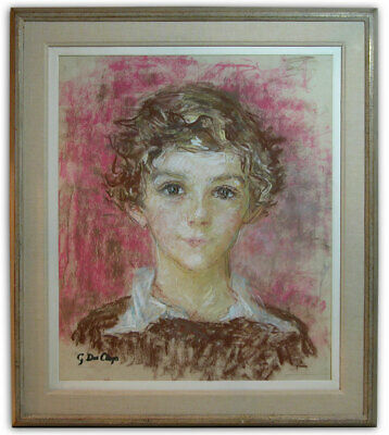 Gertrude Des Clayes Pastel Portrait of a Youth Canadian School Signed