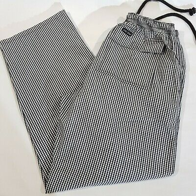 3 Pair DNC Chef Pants Unisex Size Small Elastic Drawing Waist