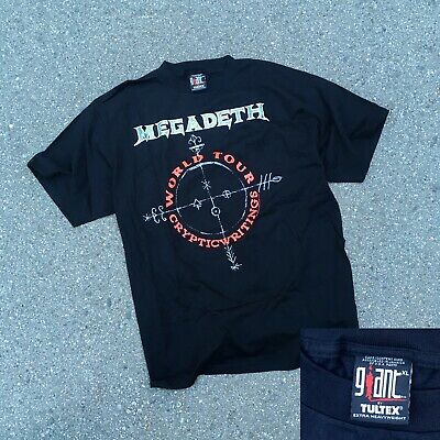 d788ff9717eb 1997 Megadeth Cryptic Writings Tour T-shirt VTG 90s GIANT tag MADE IN USA