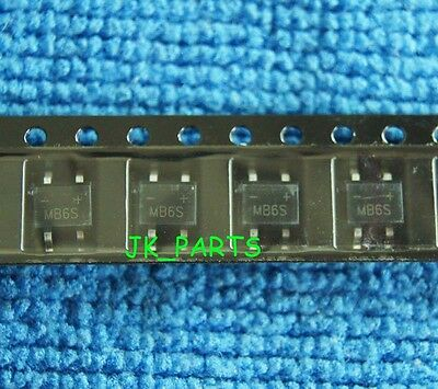 50pcs New MB6S B6S 0.5A 600V Rectifier Bridge Rectifier SMD