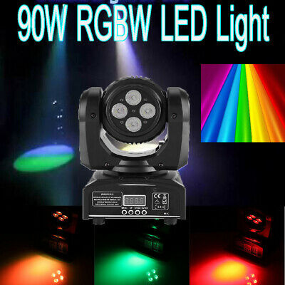 90W Double Sides RGBW Spot 8LED Moving Head Stage Light DMX512 DJ Party Lighting