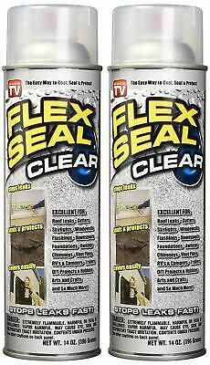 Flex Seal Clear Liquid Rubber Sealant Net 28 OZ - 2 Pack