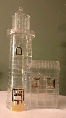 "Vintage Coin-Sorter Bank Lighthouse  11""H X 6""W Clear Lucite Plastic"