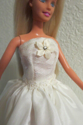a4871bc839 WEDDING GOWN FOR Barbie Doll Evening Strapless Dress Tulle Lace ...