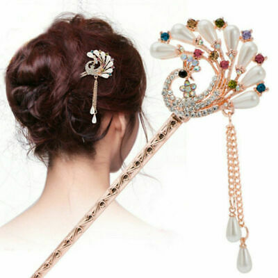 Chinese Style Hair Stick Women Metal Rhinestone Hair Hairpin Hair Accesssories