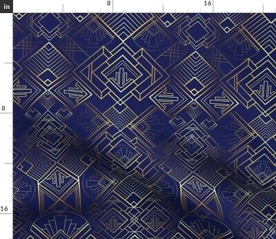 Art Deco Large Scale Vintage Style Retro 20S Fabric Printed by Spoonflower BTY