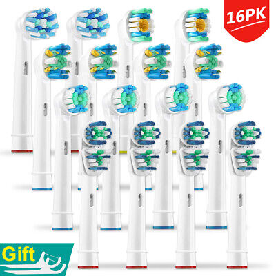 16PK Oral B Replacement Tooth Brush Heads Compatible Braun Electric Toothbrush