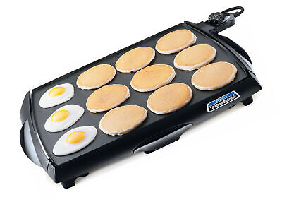 Griddle Grill Electric Cooker Pancake Cookware Flat Top Large Countertop Stove Home Appliances