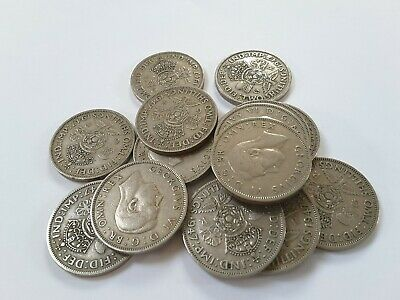 1947 - 1951 King George VI Silver Florin / Two Shilling coins - pick your year