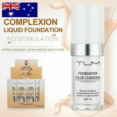 TLM Flawless Color Changing Foundation Makeup Base Face Liquid Cover Concealer E