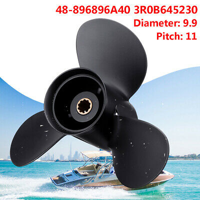 Aluminum Outboard Propeller 9.9x14 P for Tohatsu 20-30HP 3R0B645290