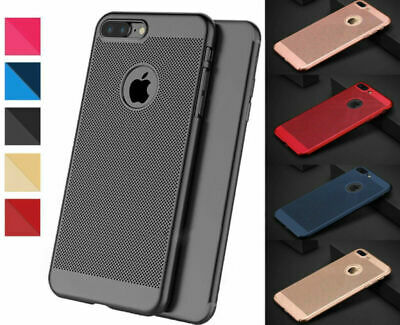 Luxury Ultra Thin Slim PC Mesh Hard Back Case Cover Apple iPhone 10 X 8 7 6s 5s