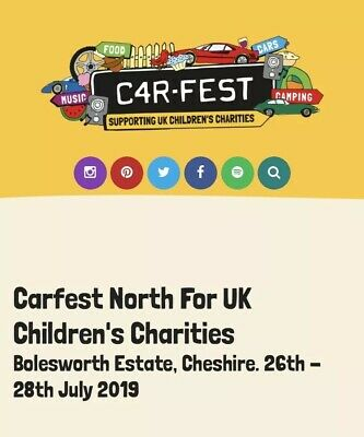 SOLD OUT 2x Carfest North VIP Tickets with Camping (Face Value £348 Each)