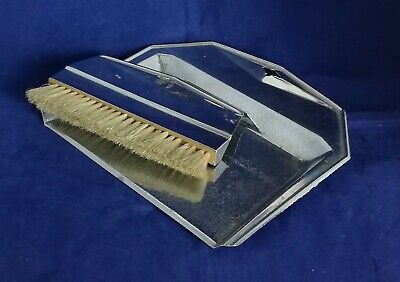 Beautiful Art Deco Chrome Plated Crumb Tray and Brush