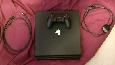 Sony PlayStation 4 Pro 1TB Console - Black with breakdown cover see description.