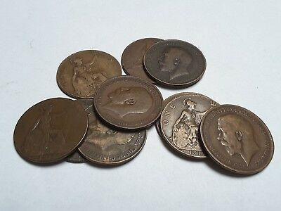 George V One Penny coin - choose your year 1911 - 1936  (free post)