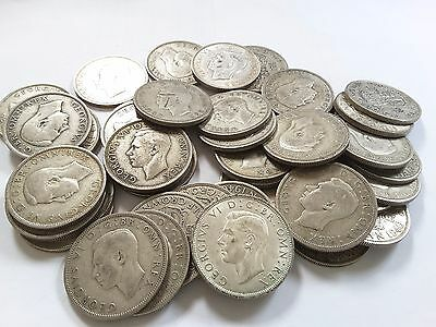 King George VI Half Crown coins 1937 -1951 - Choose your year and coin