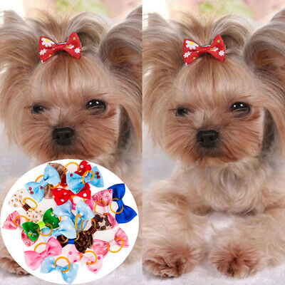 US 20 PCS/LOT Handmade Designer Pet Dog Accessories Grooming Hair Bows For Dogs