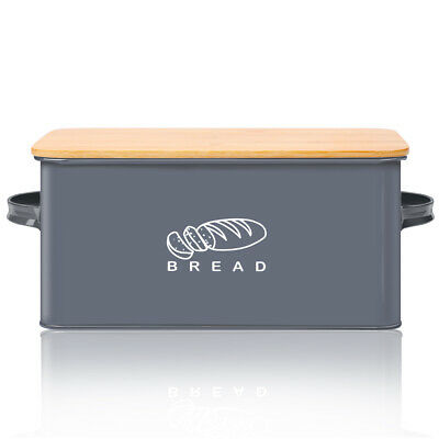 Bread Box for Kitchen, Bread Bin Breading Keeper with Bamboo Lid 12*6.7*5.7 inch