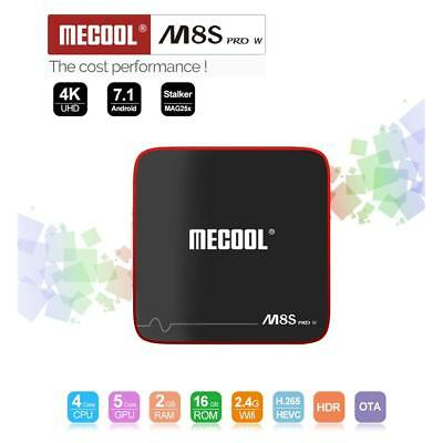 2GB+16GB M8S PRO W Android7.1 TV BOX S905W QuadCore WiFi 4K UHD 3D Media NEW