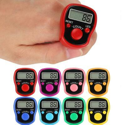 LED Electronic Digital Finger Ring Tally Counter Hand Held Knitting Row Clicker