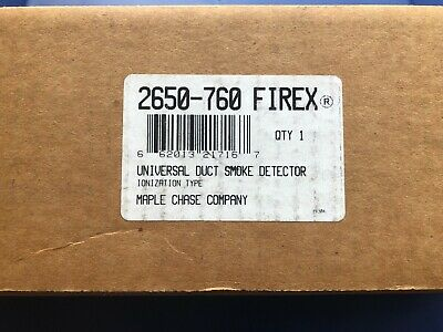 Firex 2650-760 Maple Chase Co. Universal Duct Smoke Detector Ionization Type