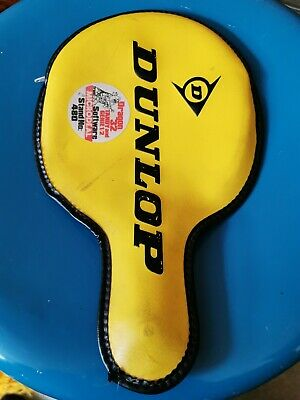 Vintage Dunlop Ping Pong Paddle Case Table Tennis Bat Dragon 32 Stickers Tandy