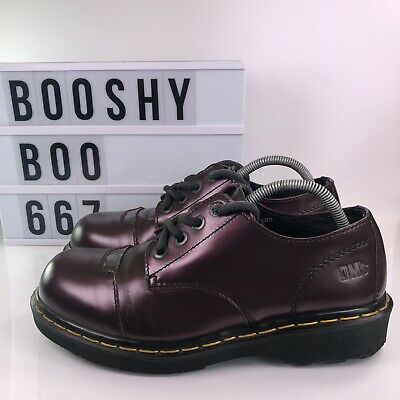 Dr Martens 9810 Made In England Purple Leather Shoes Size Uk 8 Men's Women's ?