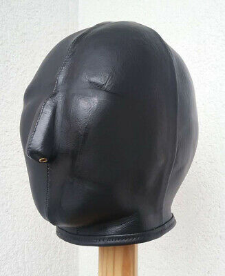 100 % Ledermaske, schwarz, handgefertigt. 100 % Leather Mask, handmade, black