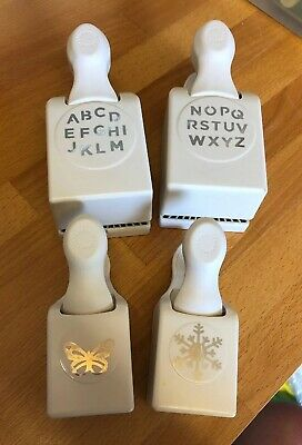4 Martha Stewart Craft Punches - Alphabet, Butterfly And Snowflake
