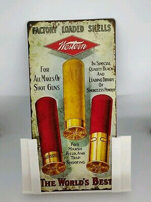 "Western Factory Loaded Shot gun Shells Ad Metal Sign Repro 6x12"" 60343"