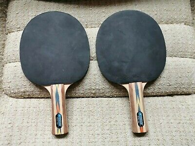 Pair of Matthew Syed Donic Schildkrot ping Pong Paddles table tennis bats