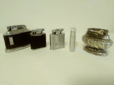 Collectible Lot Of 5 Ronson Cigarette Lighters Used