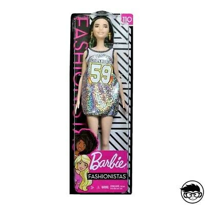 Barbie Fashionistas Original with Green Highlights 110 (Mattel FBR37 FXL50) 2018