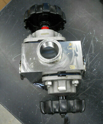 "Gemu Diaphragm Valves W/3 2"" Sanitary Fittings"