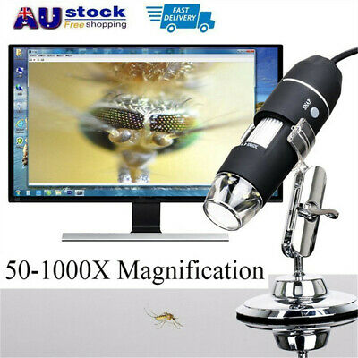 50x-1000x 8 LED USB Digital Microscope Magnifier Endoscope Camera with Stand