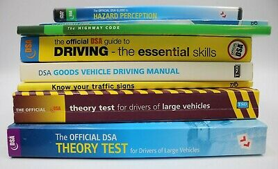 DVA UK Driving theory Large Goods Vehicles Truck Test & skills Book - job lot