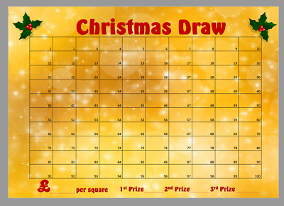 Christmas Xmas Raffle Draw Sweepstake Charity School Fete Event Fundraiser Gift