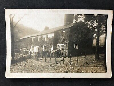 Vintage Real Photo Postcard: People #B1004: Stone Built County Cottages: No Mid