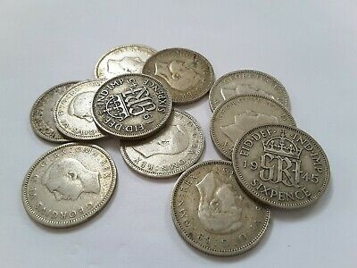 King George VI Lucky Sixpence 1945 - Choose your coin