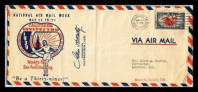 Dr Jim Stamps Us San Francisco Exposition Cachet Air Mail Week Legal Size Cover