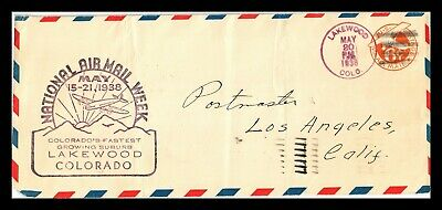 Dr Jim Stamps Us Lakewood Colorado National Air Mail Week Legal Size Cover