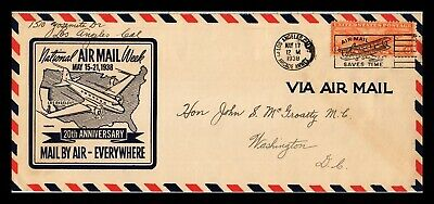 Dr Jim Stamps Us Los Angeles Air Mail Week Legal Cover Sears Company On Back