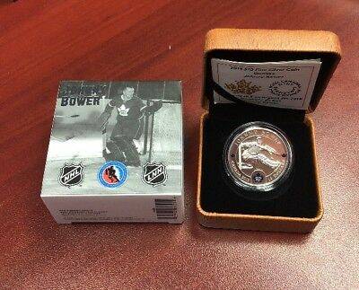 2015 $10 Fine Silver Coin 99.99% Toronto Maple Leafs Johnny Bower Goalie