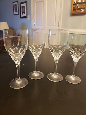 Lot of 4 Gorham Crystal Stemware, 3 Wine/Water stem, 1 Small Wine stem, Diamond